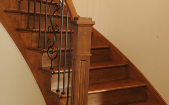 escaliers d 39 int rieur en bois fer et verre con us par nos. Black Bedroom Furniture Sets. Home Design Ideas
