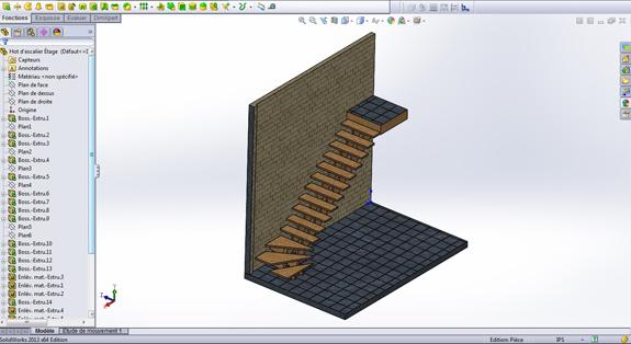 fabrication et mod lisation 3d de plan d 39 escaliers en tous genres. Black Bedroom Furniture Sets. Home Design Ideas