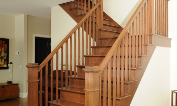 Escaliers d 39 int rieur en bois fer et verre con us par nos experts - Photo d escalier d interieur ...
